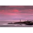 034. Atardecer faro Isla de Pancha, Ribadeo. Galicia