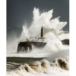 029. Temporal faro isla de Mouro. Santander. Cantabria