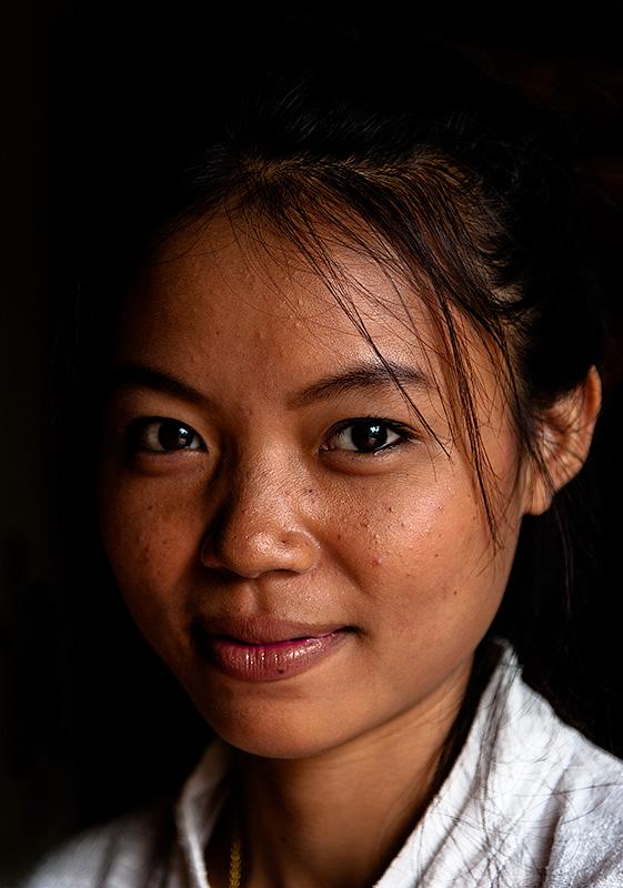 Mujer en Luang Prabang. Laos.