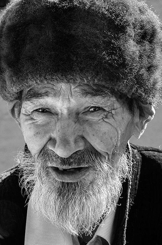 Hombre en Samarkhanda. Uzbekistán.