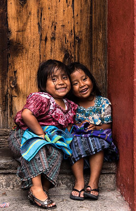 Niñas en Antigua.Guatemala.