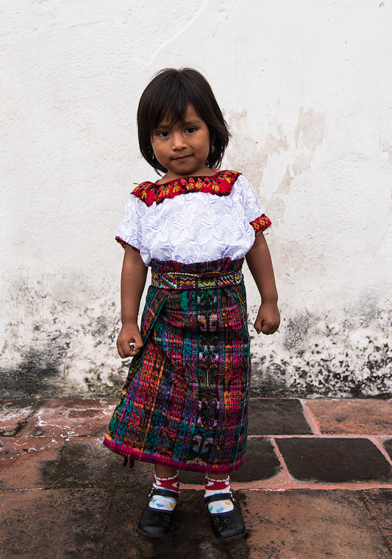 Niña en Antigua. Guatemala.