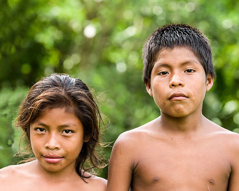 Emberás, selva del Darien, Panamá.