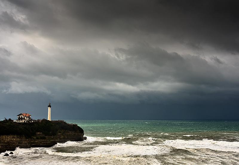 Faro de Biarritz, Francia.