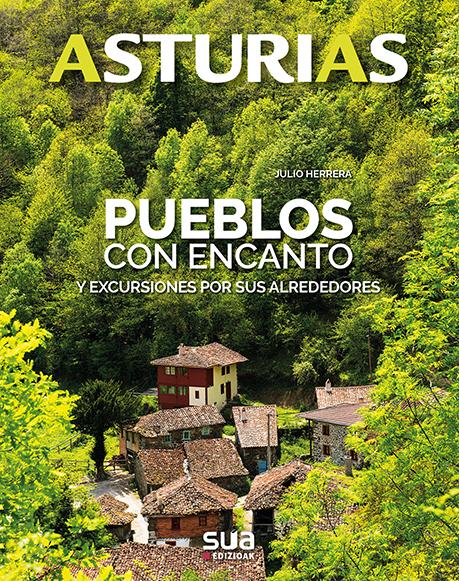 """Asturias. Pueblos con encanto y excursiones por sus alrededores"""" es una guía editada por Sua Edizioak en 2017 con textos y fotografías de Julio Herreraunas sugerentes fotografías se da a conocer las curiosidades, historia o gastronomía de estos pueblos, así como de su entorno, con una interesante ruta por sus alrededores. 16X20,5 ISBN:978-84-8216-669-8 SS 398-2018"""